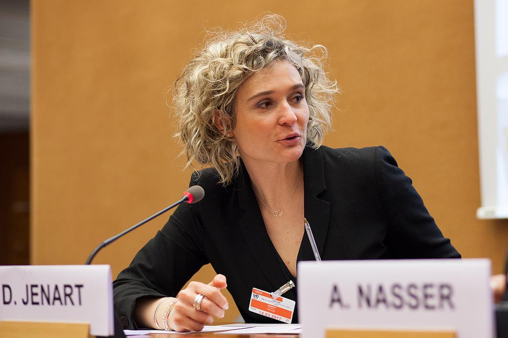 Delphine Jenart - Animation d'une conférence aux Nations Unies, Genève, 2014