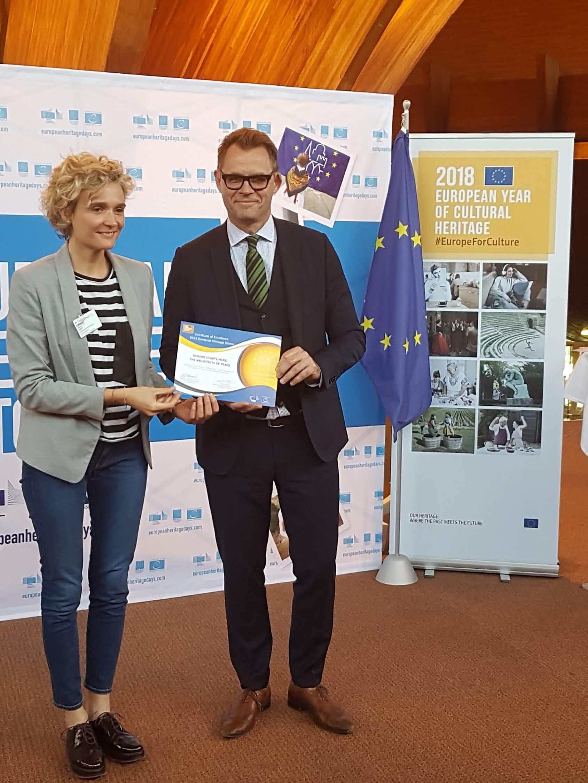 Delphine Jenart - Représentation du Mundaneum au Conseil de l'Europe, Strasbourg, 2018